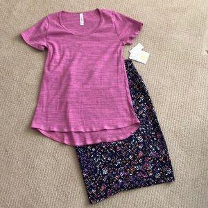 LuLaRoe Cassie Sz XS Classic T size XXS Outfit
